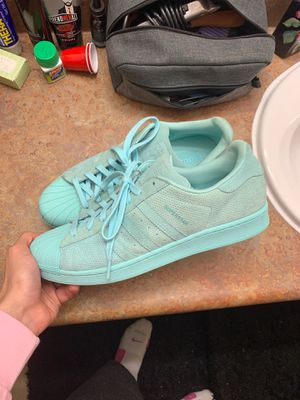 Adidas Superstar Aqua Blue for Sale in Wichita, KS