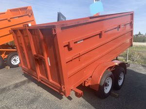New Dump trailer HD 8x12x4 $5250 cash carrier bobcat concrete for Sale in Los Angeles, CA