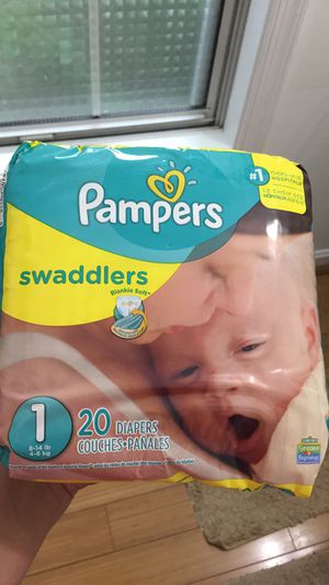 Size 1 Pampers Diaper for Sale in Montgomery Village, MD