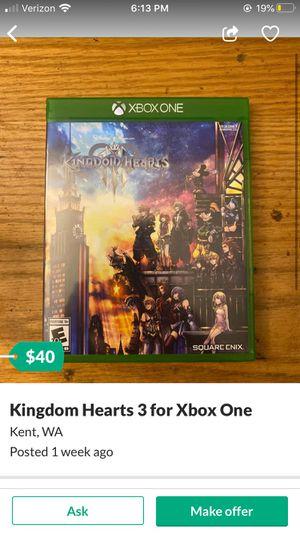 Kingdom hearts 3 for Sale in Kent, WA