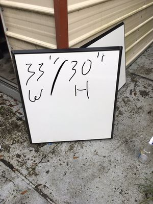 Magnetic whiteboard $40 for Sale in Mulberry, FL