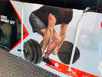 Brand New 🎁100 Lbs VINYL Weight Set🏋🏻♀️💪 for Sale in Stockton,  CA