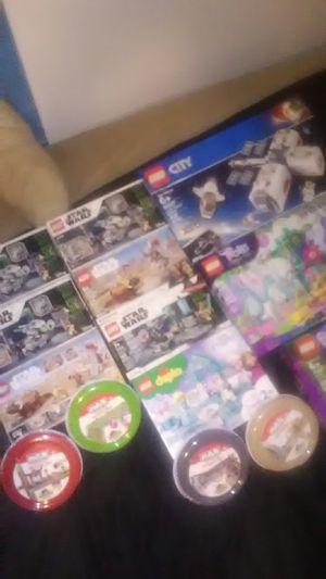 Legos Star wars, Lego City, trolls, friends, Frozen, Max toy blocks tape for Sale in Fresno, CA