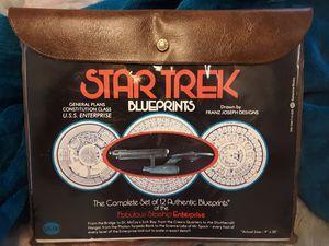 Star Trek blueprints of the Starship Enterprise for Sale in Marion, MI