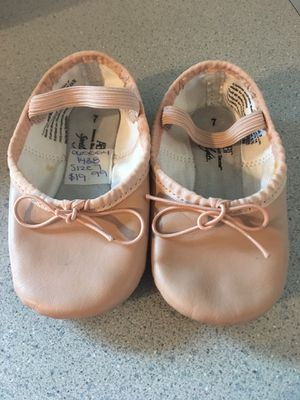 Ballet slippers size 7 toddler for Sale in Little Chute, WI