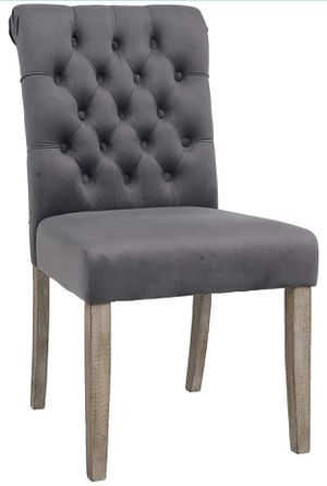 Tufted Upholstered Camran High Back Velvet Charcoal, Gray dining chair tables restaurant bar chairs HOLIDAY SPECIAL farmhouse styles for Sale in Yorba Linda, CA