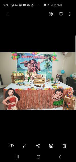 Moana decoracion para cumpleaño for Sale in Miami, FL
