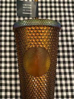 Starbucks 50th Anniversary Limited Edition Gold Studded Grande Cold Cup for Sale in Rockwall,  TX