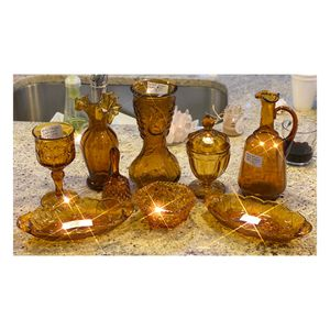 Vintage Amber Glass collectibles for Sale in Richardson, TX