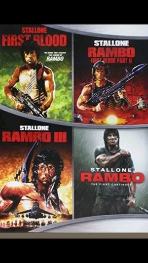 Rambo 1,2,3 and Rambo 2008 Dvds for Sale in Owatonna, MN