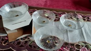 14 Arcoroc French made salad or dessert Crocus bowls and 8 matching mugs.Brand new in boxes. for Sale in Kingsley, PA