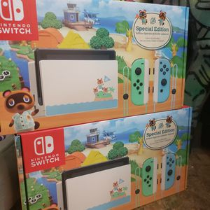 Nintendo Switch Animal Crossing Edition $380/ Each for Sale in Fresno, CA