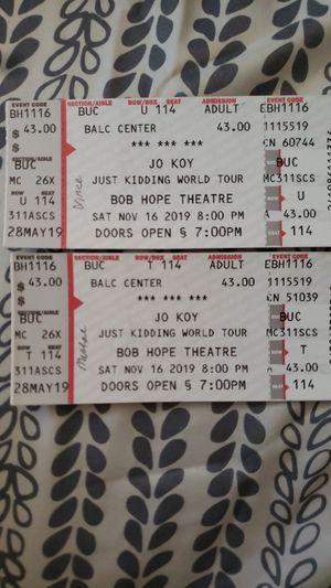 Jokoy Tickets for Sale in Modesto, CA