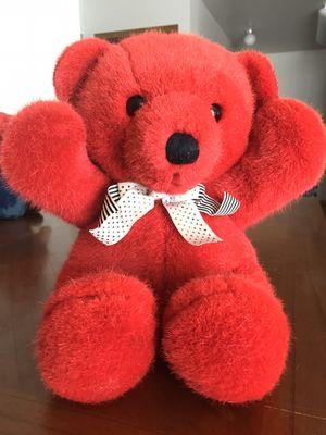 Vintage Dakin Red Teddy Bear Cuddles Plush Stuffed Bear 1979 for Sale in Murray, UT