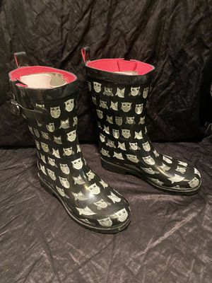 CAPELLI New York Rain Boots Galoshes OWL Womens Shoes Sz 7 Mid calf for Sale in Kissimmee, FL