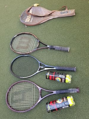 3 Tennis Rackets and ball set for Sale in Los Angeles, CA