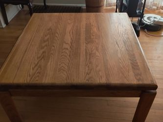 Solid Oak Wooden Coffee Table With Matching End Table for Sale in Portland,  OR