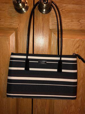 Kate Spade black and white striped handbag for Sale in Herndon, VA