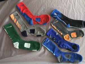 Nike elite socks, adidas pair, NBA pair for Sale in Long Beach, CA