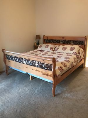 King Size Bed Frame & Mattress for Sale in Bonsall, CA