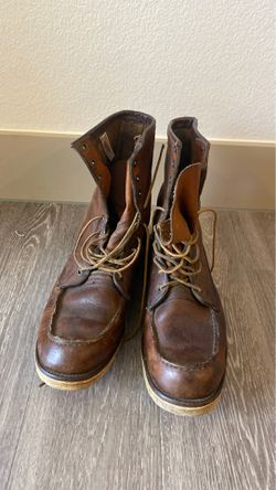 Red wings moc toe brown leather boots for Sale in Las Vegas,  NV