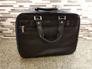 Kenneth-Cole Black Leather Laptop Briefcase for Sale in Fontana, CA
