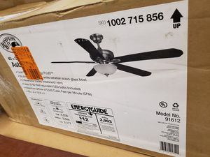 Hampton Bay Asbury 60 in. LED Indoor Brushed Nickel Ceiling Fan with Light Kit and Remote Control for Sale in Dallas, TX