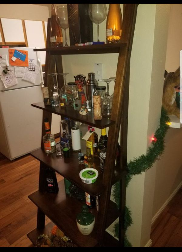 Book/Bar Ladder Shelf