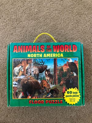 Animals of the World North America floor puzzle for Sale in Stockton, CA