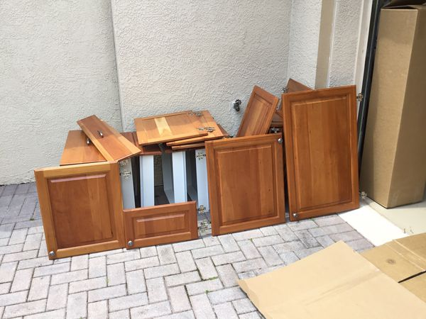 Kitchen cabinet doors. Solid cherry raised panel w ...