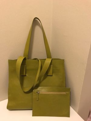 Beautiful Summer Tote Bag with Wallet real leather Veneziano designer bag made in Italy for Sale in Naperville, IL