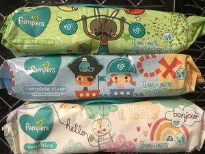 Pampers Baby Wipes, 56-72 count for Sale in Odenton, MD