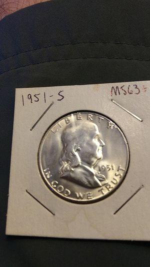 BU Franklin Half dollar 1951-s for Sale in Peoria, IL