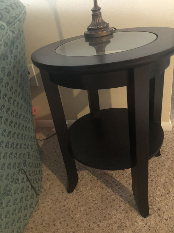 Black 3 tables (coffee and 2 end tables)