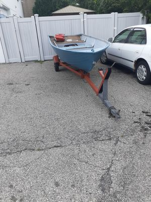 Aluminum boat 16 fg commercial quality with trailer for Sale in Albertson, NY