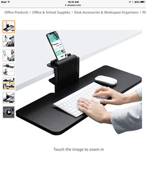 "JENOSWEIN Clamp on Keyboard Tray Under Desk 26"" Platform Fits Full Size Keyboard & Mouse for Sale in Bakersfield, CA"