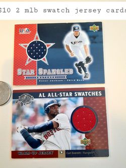 $10! 2 Mlb Swatch Jersey Baseball Cards for Sale in Tacoma,  WA