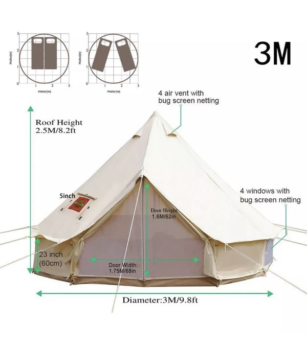 Tent with stove jack