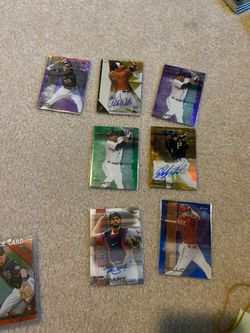 Lot of 8 topps finest rare numbered and autographed baseball cards for Sale in Sumner,  WA
