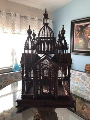 Antique Bird Cage- Mahogany Wood for Sale in North Redington Beach, FL