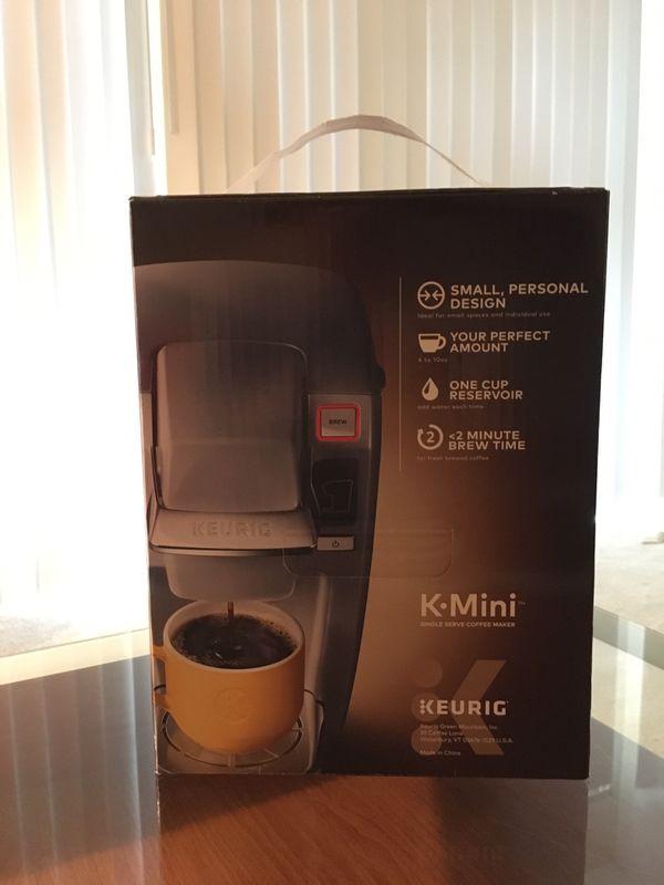 KEURIG KMini K-Mini compact coffee machine maker grey gray platinum