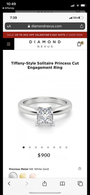 Tiffany-Style Solitaire Princess Cut Engagement Ring for Sale in Las Vegas, NV