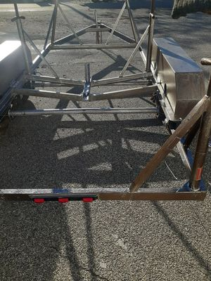 Sailboat trailer 2 axle heavey duty for e boats up to 28 ft for Sale in Garden City Park, NY