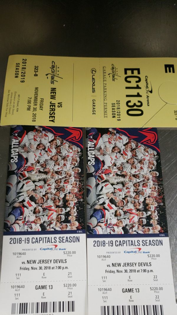 Capital ticket for tonight's game