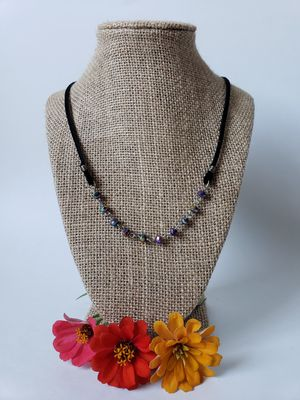 Suede and rosary necklace for Sale in Centreville, VA