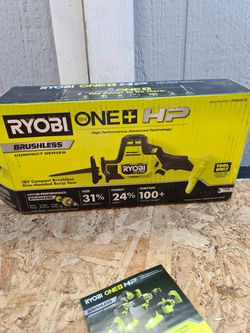 Ryobi ONE+ HP 18V Brushless Cordless Compact One-Handed Reciprocating Saw (Tool Only) for Sale in Snohomish,  WA