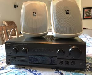 Yamaha Outdoor Speakers + Technics Stereo for Sale in Annapolis, MD