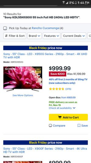Sony 55' smart tv built in 3D, TRADE,SELL for Sale in Ontario, CA