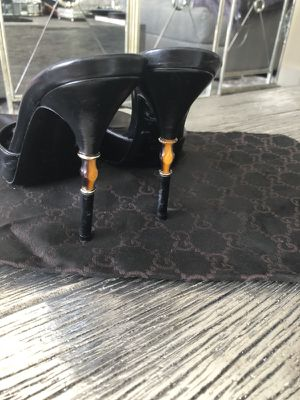 Gucci Bamboo heel black leather 37.5 for Sale in Tampa, FL