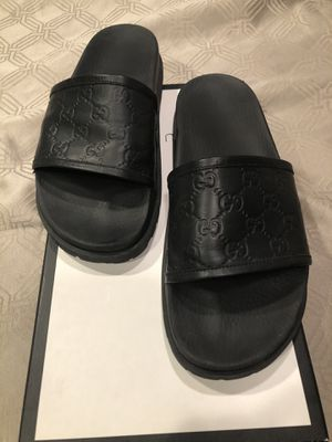 Gucci leather Slides G10 Size 11, 100% authentic for Sale in Silverado, CA